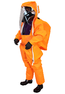 Gas tight suit with limited life use