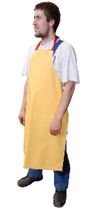 Apron without sleeves