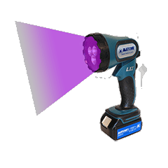 Four positions UV-LED lamp