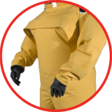 Protective clothing Air supplied clothing