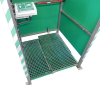 Tank shower - Panel type foot control in combination with drain sump and eyebath in cabin